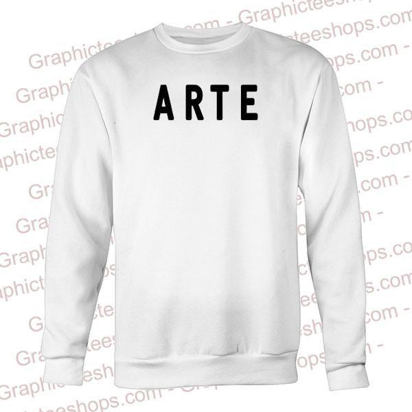 arte font sweatshirt