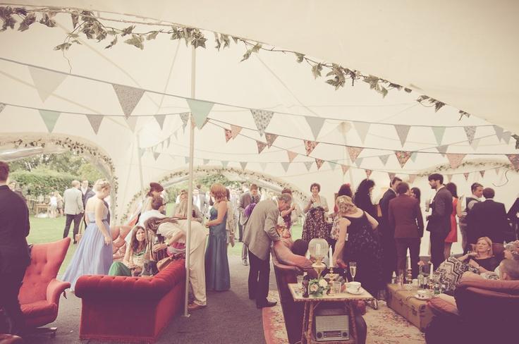 Eclectic Indoor/Outdoor Wedding: Lou  Stu