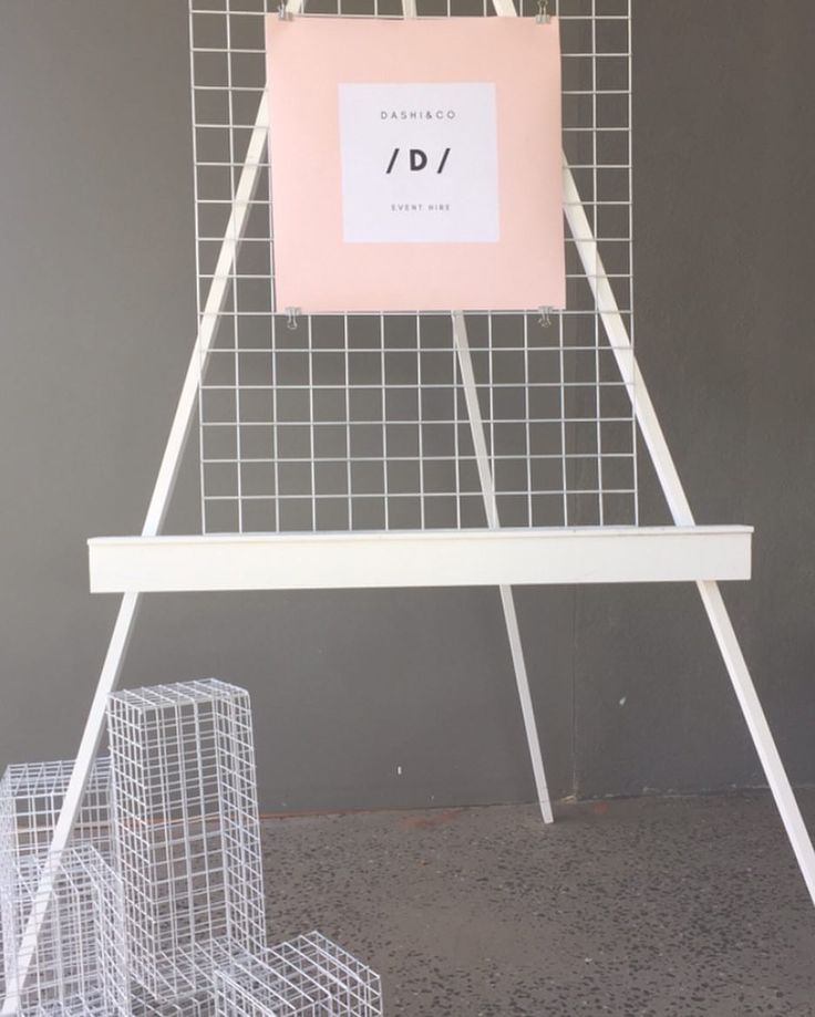 """2 Likes, 2 Comments - Dashi & Co (@dashi.co) on Instagram: """"Create a modern look with our mesh cubes and mesh welcome sign sitting on our easel."""""""