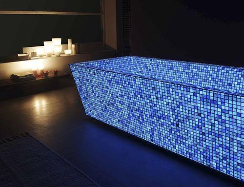 vasca da bagno in muratura con mosaico padova