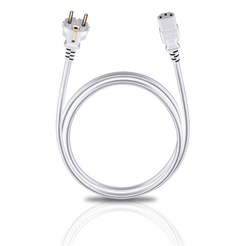 Oehlbach Powercord C13 white 30m  Description: Oehlbach Powercord C13 white 30m De Oehlbach Powercord C13 white 30m is een universele lichtnetkabel waarvoor zeer zuiver zuurstofvrij koper als interne geleider is gebruikt. Deze kabel is geschikt voor vele kleine elektrische en multimedia-apparaten. De 24-karaats vergulde stekkercontacten staan garant voor een lange levensduur en uitstekende contactbetrouwbaarheid. Lichtnetkabel met geaardestekker Connector: Veiligheidsstekker (CEE7/7)…