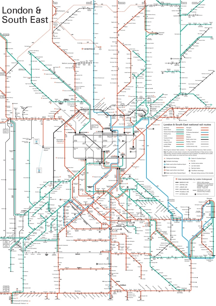 map of london the south east by network rail you can plan yourjourney