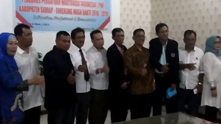 Pengurus PWI Sidrap-Enrekang Dituntut Lakukan Uji Kompetensi Wartawan