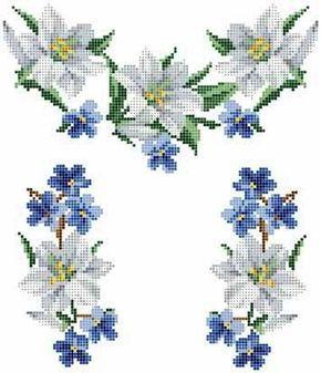 Цветочные узоры) схема вышивки.. Обсуждение на LiveInternet - Российский Сервис Онлайн-Дневников