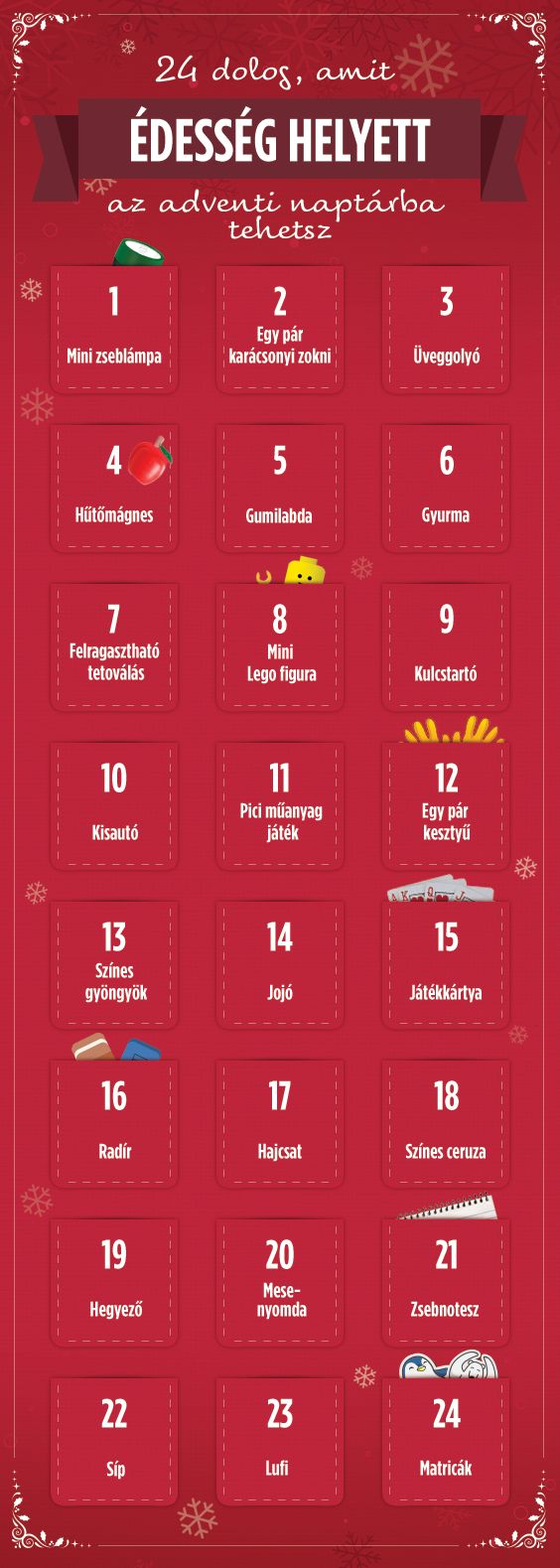 Az Adventi naptárat egycsapásra egy izgalmas kalanddá változtathatod, ha édességek helyett mást csempészel bele ;) #advent #karacsony #tesco #tescomagyarorszag