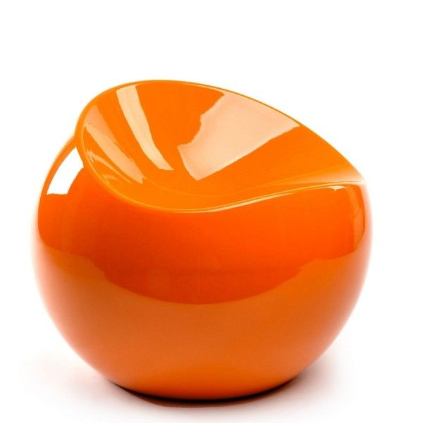 baby ball chair orange xl boom dcouvrir sur pouf design
