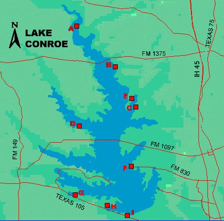 Lake conroe access boat ramps you 39 re welcome www for Fishing lake conroe