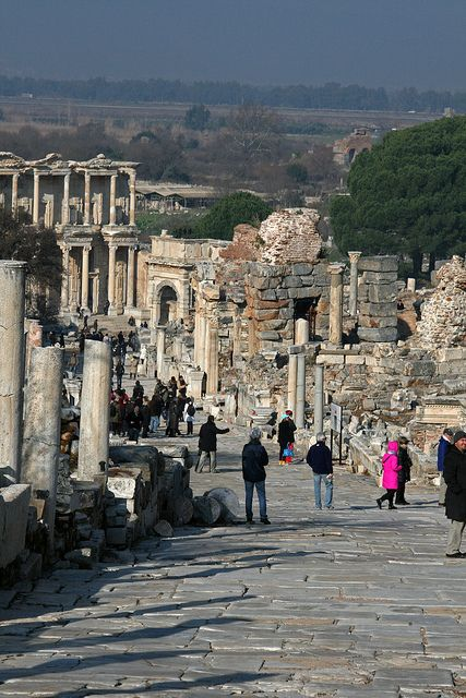 Curate's Street toward library, Ephesus, Turkey