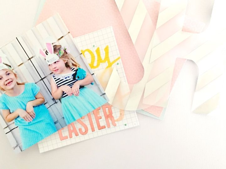 Easter Crafting With The Jot Girls. Layout tutorial by Anna Allan