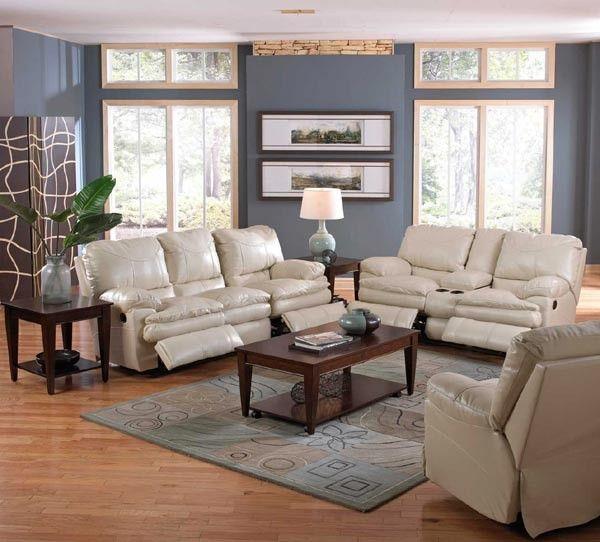 Catnapper - Perez 2 Piece Power Reclining Sofa Set in Ice - 64149-2SET-ICE