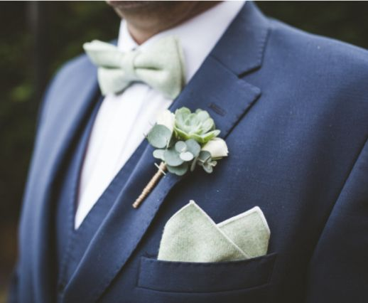 Amazing photo of our Morris bow tie and pocket square set available at https://www.dickiebow.co.uk/products/morris-bow-tie-and-pocket-square