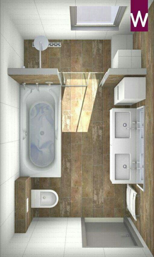 Ba o con doble lavabo y tina house ideas in 2019 for Badezimmer ideen 9qm
