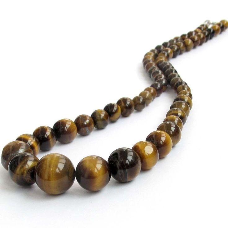 jewelry gems and stones for african jewelry | Tiger Eye Gemstone Beads Necklace Jewelry | eBay