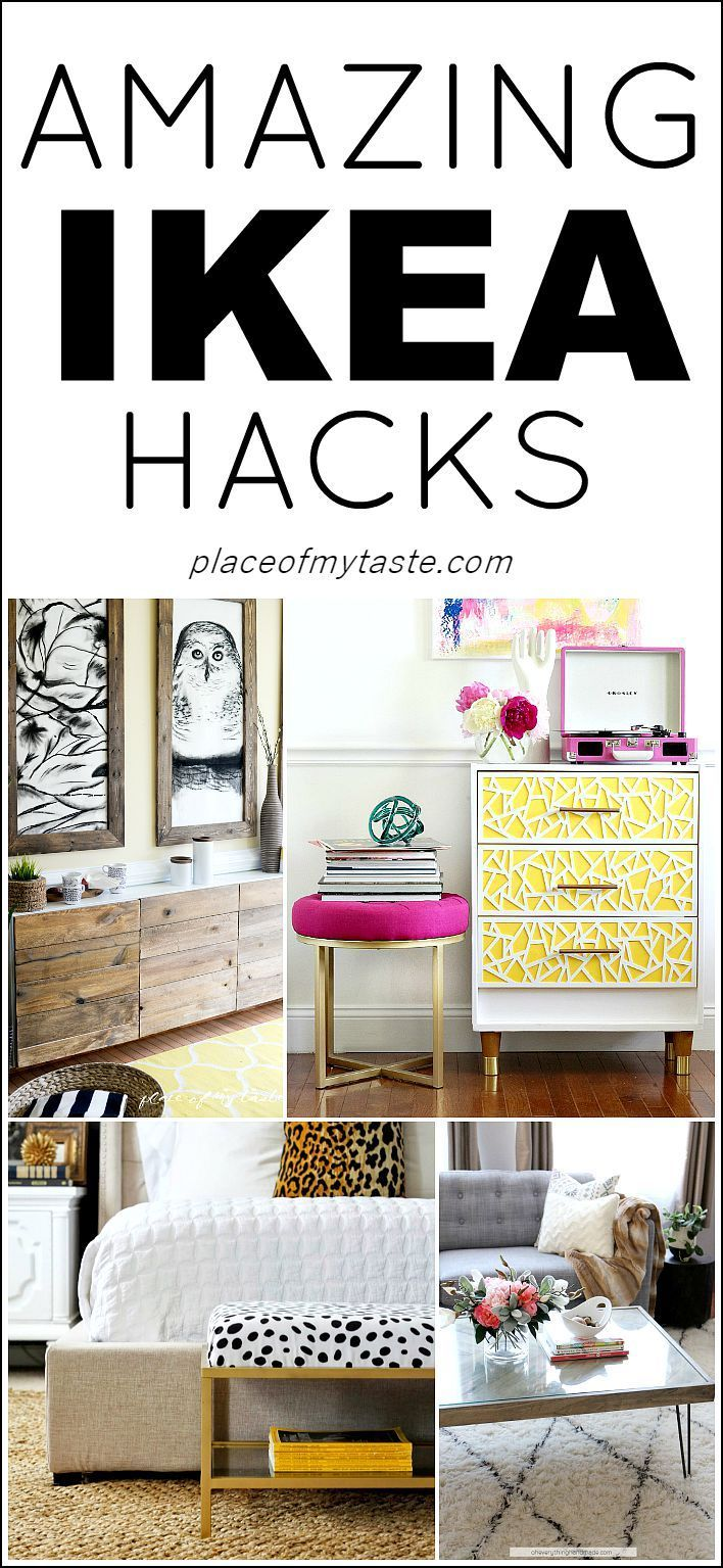 Transform IKEA pieces in to custom pieces with these twists.