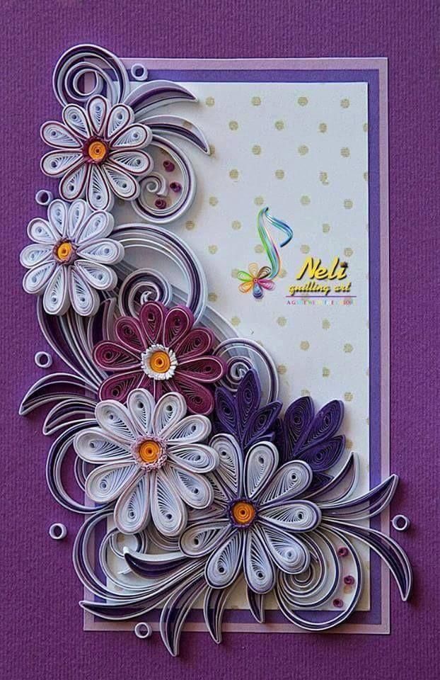 Открытки с цветами в технике квиллинг своими руками, открытки восьмым
