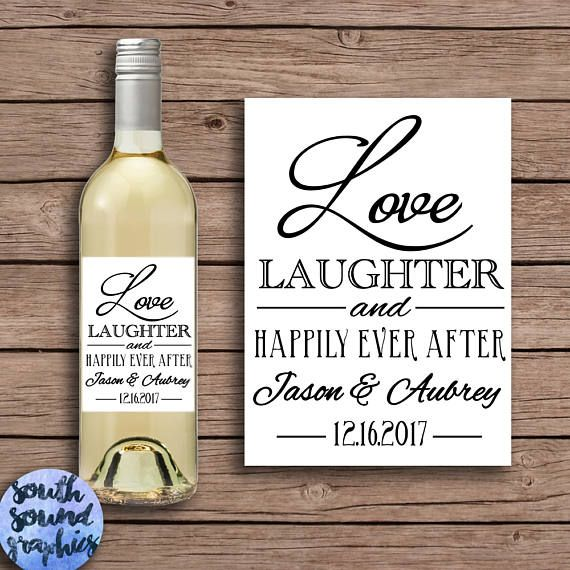 Custom Wine Labels For Wedding Gift : ... Wine Bottle Labels - Bridesmaid Gift - Custom Wine Label Gift Idea