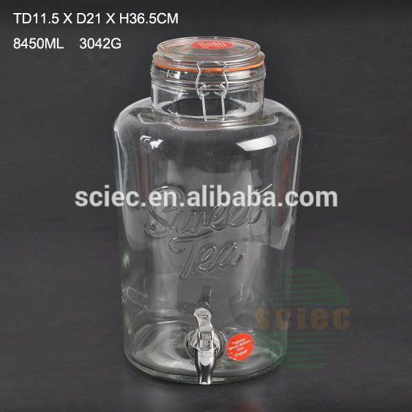 Grote capaciteit sap opslag pot met roestvrij tap en glazen deksel voor stoage-flessen-product-ID:60490562074-dutch.alibaba.com