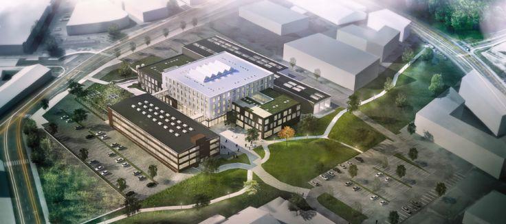 Design layout for det nye campus