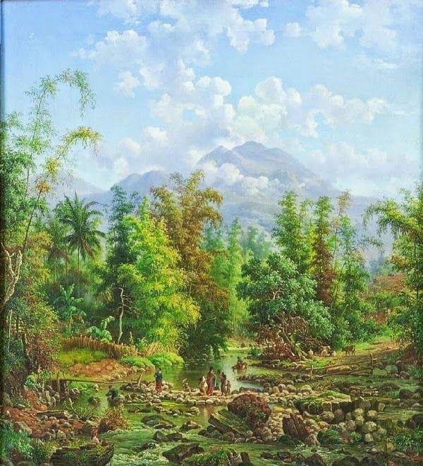 Maurits vd Kerkhoff - Sungai Brantas, Malang (1889) #1