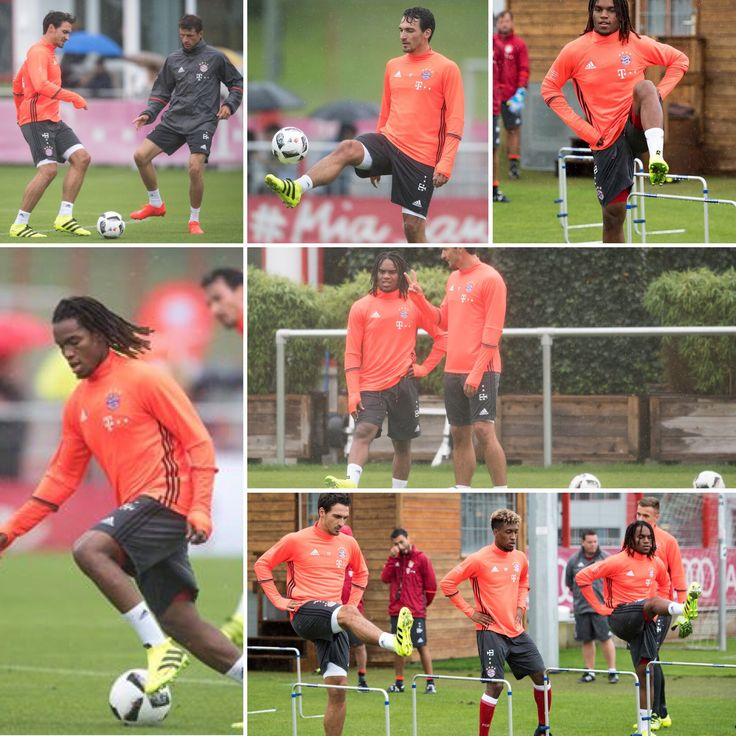 Summer signings Renato Sanches & Mats Hummels in FC Bayern München training for the first time! #UCL #MQQ88  #FC  Join us>>> www.MQQ88.com
