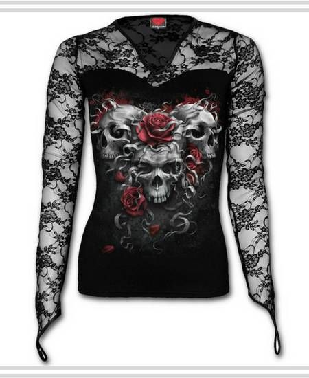 Camisetas con Calaveras y Rosas #calavera #skull #camisetas #t-shirt #xtremonline #roses #rosa