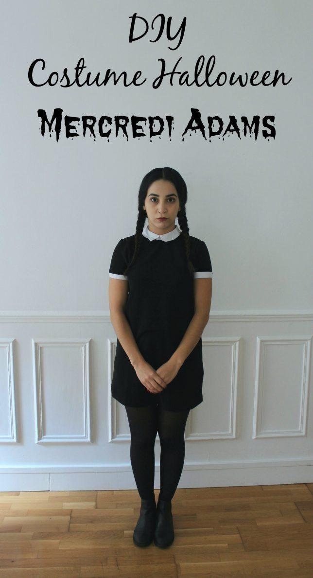 Pas d'idée de déguisement pour Halloween? Voici celui de Mercredi Adams, très simple et très rapide à reproduire :)