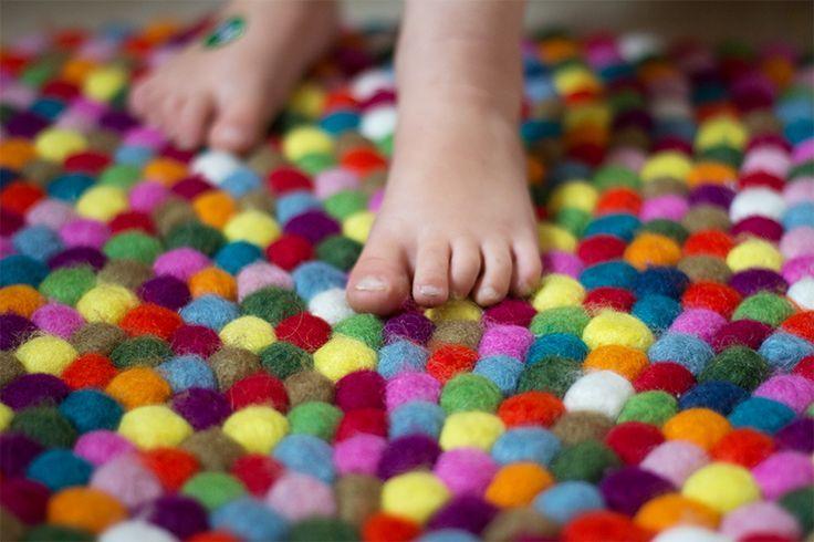 1000+ Ideen zu Filzkugel Teppich auf Pinterest  Filzkugel