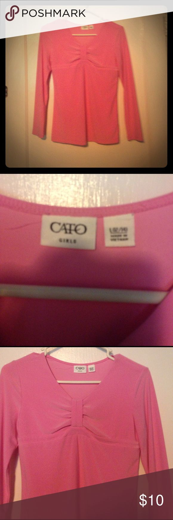 Dress shirt Pink dress shirt in little girl size only been worn once Shirts & Tops Blouses