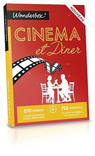 WONDERBOX – Coffret cadeau – CINEMA ET DINER: 570 adresses gourmandes et 750 cinémas Un dîner gourmand pour 2 personnes et 2 places de…