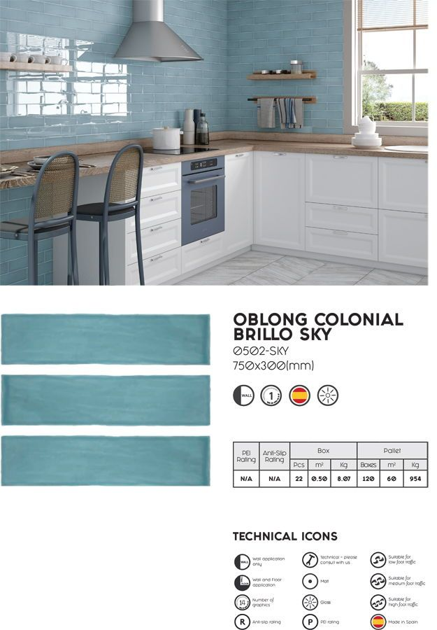 Welcome 2020 Metro Tiles Blue Tiles Kitchen Wall Decor