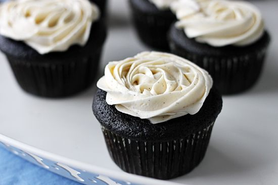 ... Ganache Filled Cupcakes with Vanilla Bean Buttercream Frosting