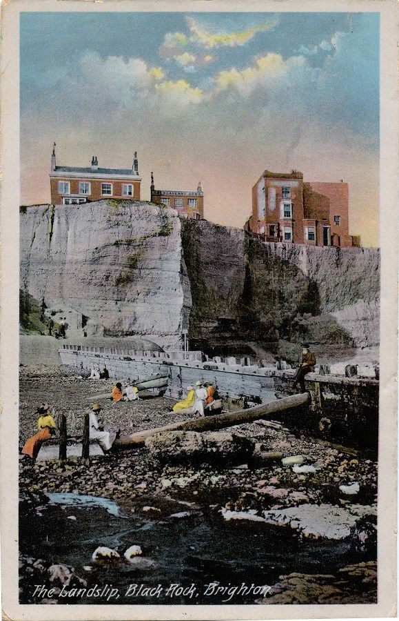 Brighton The Landslip, Black Rock C1900 showing The Abergavenny Arms.(Digital Version)