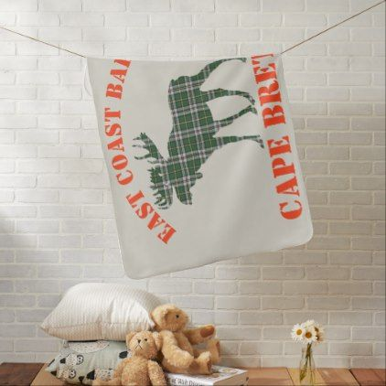 #East Coast Baby moose  Cape Breton tartan  blanket - #Xmas #ChristmasEve Christmas Eve #Christmas #merry #xmas #family #kids #gifts #holidays #Santa