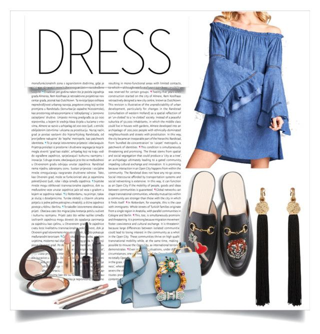 """""""#offshoulderdress #contest #polyvore"""" by vikapranika on Polyvore featuring Armitage Avenue, Oris, Gucci, Miu Miu and Yves Saint Laurent"""