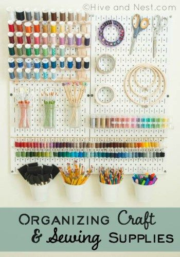 Attention all crafters! If your craft supplies are less than organized then you need to read this great article by Hive and Nest on getting organized with Wall Control Pegboard!