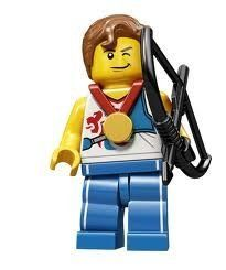 LEGO Olympic Minifigures: Olympic Archer by LEGO. $14.88. Year: 2012. Collect every gold-medal contender in the Team GB LEGO Minifigures series! Capture the bronze, silver and gold with this all-new, exciting team of 9 Team GB LEGO Minifigures, each with their own special accessories!