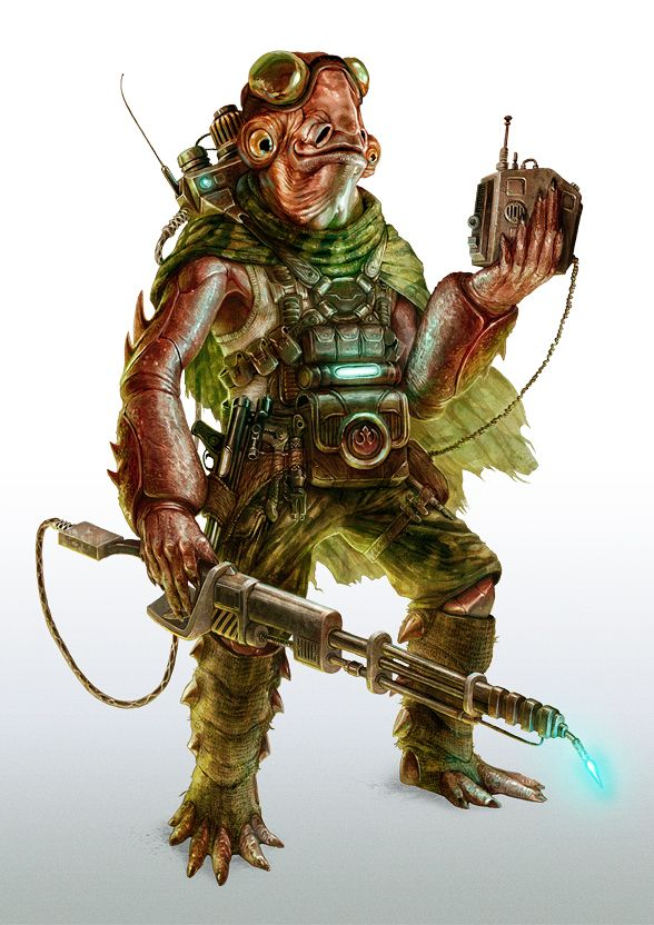 'Mon Calamari Engineer' (FFG STAR WARS RPG) by Mike Nash
