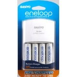 Sanyo Eneloop AA NiMH Pre-Charged Rechargable Batteries with Charger - 4 Pack (Electronics)By Sanyo