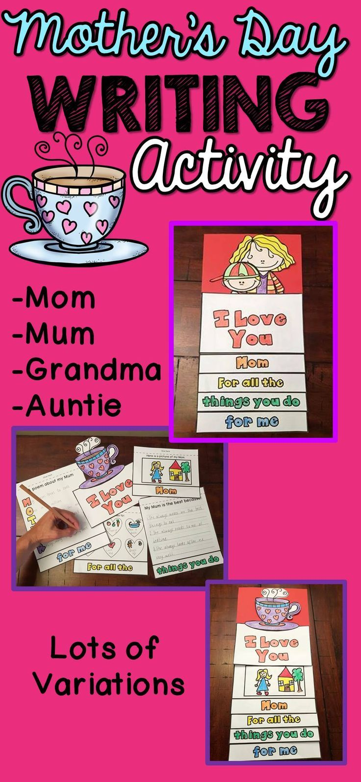 Mother's Day Craft Mother's Day Writing  Mother's Day Activity