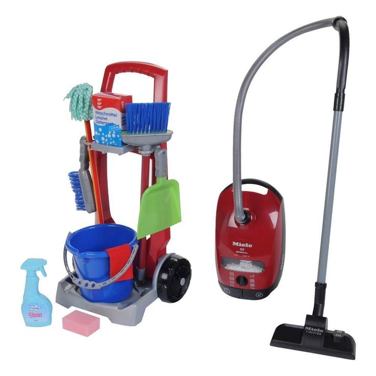 Theo Klein - Cleaning Trolley and the Miele Vacuum Set - Red