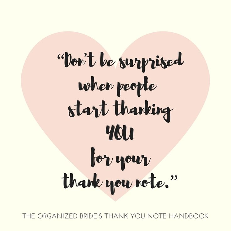 Best The Organized BrideS Thank You Note Handbook Images On