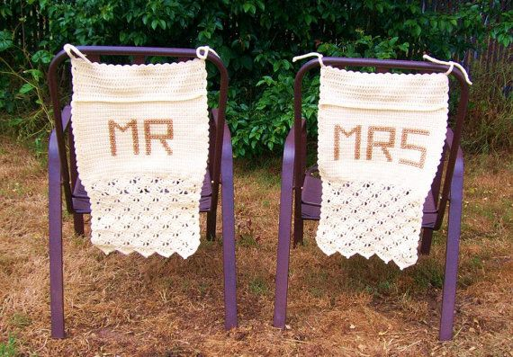 Wedding Seat Covers Mr and Mrs Rustic by EnchantingCreations7