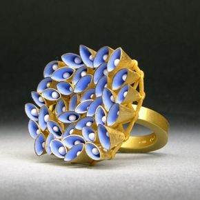 'Oval Ring with moveable Cones, 2010', by Jacqueline Ryan