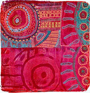 Printing with Gelli: When Gelli Meets MagicStamps™ - embellished with Sharpie Water Based Paint Pens