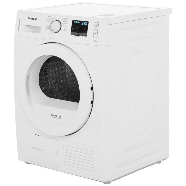£499, Samsung DV70F5EOHGW Heat Pump Tumble Dryer - White
