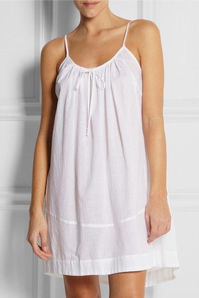 Cotton-batiste nightdress #Donna Karan