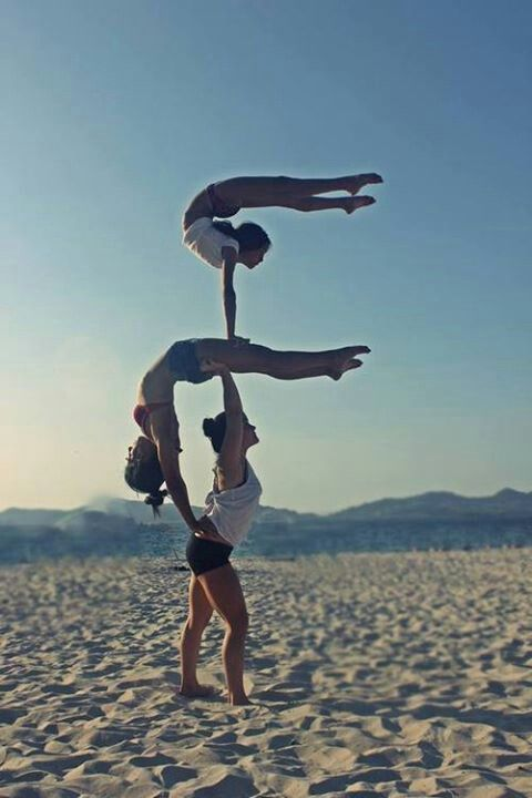 Wow incredible yoga stack of 3 people! Loved and pinned by ...