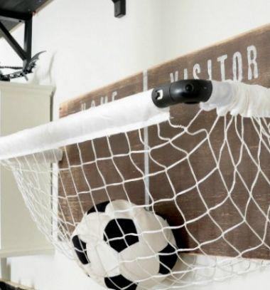 DIY Sports net ball storage - kids room decor // Fali labda tartó gyerekszobába focikapuból // Mindy - craft tutorial collection // #crafts #DIY #craftTutorial #tutorial #DIYFurniture