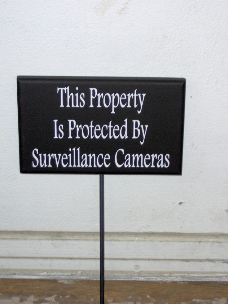 Signs needed for home protection.  Come visit my #etsy shop: Property Protected By Surveillance Cameras Wood Vinyl Stake Sign Garden Sign Yard Art Security Warning No Trespassing Private Property Privacy...Each sign is created for outdoor use.  http://etsy.me/2DyoJEs