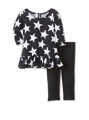 60% OFF Pippa & Julie Baby Star Tunic & Legging Set (Black/White)